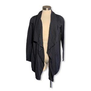 Boden Cardigan Open-Front Pockets Asymmetrical Hem